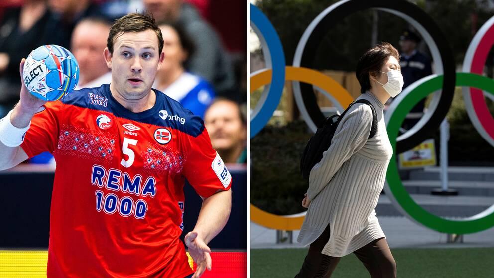 Handbollsstjärnan Sander Sagosen är en av flera norska idrottare som vill att OS ska skjutas upp.