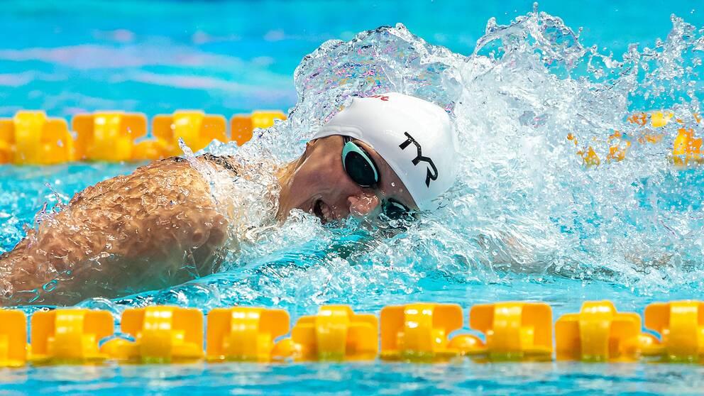 Karie Ledecky, USA, har fem OS-guld och 15 VM-guld på meritlistan.
