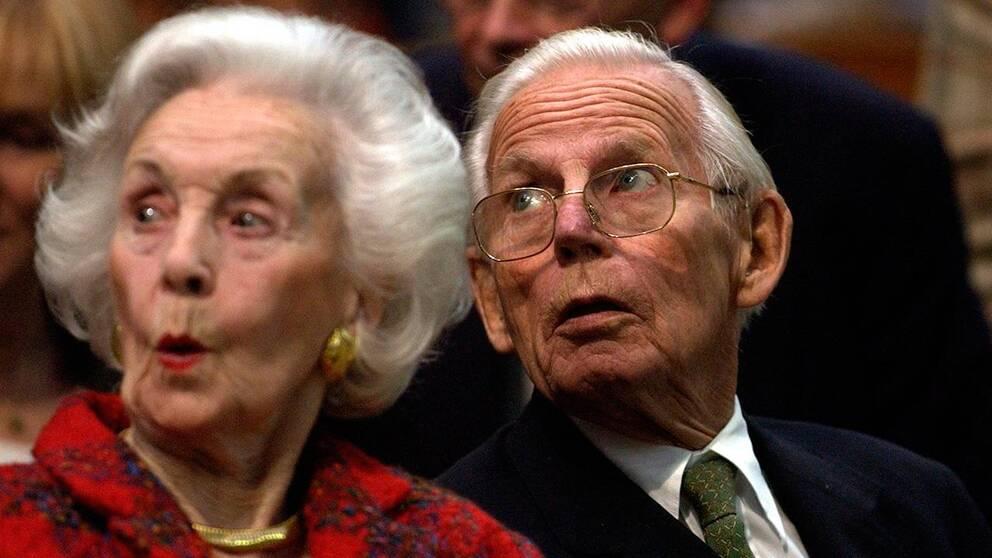 Peter Wallenberg delade familjens traditionella intresse för tennis – här på Stockholm Open med prinsessan Lilian.