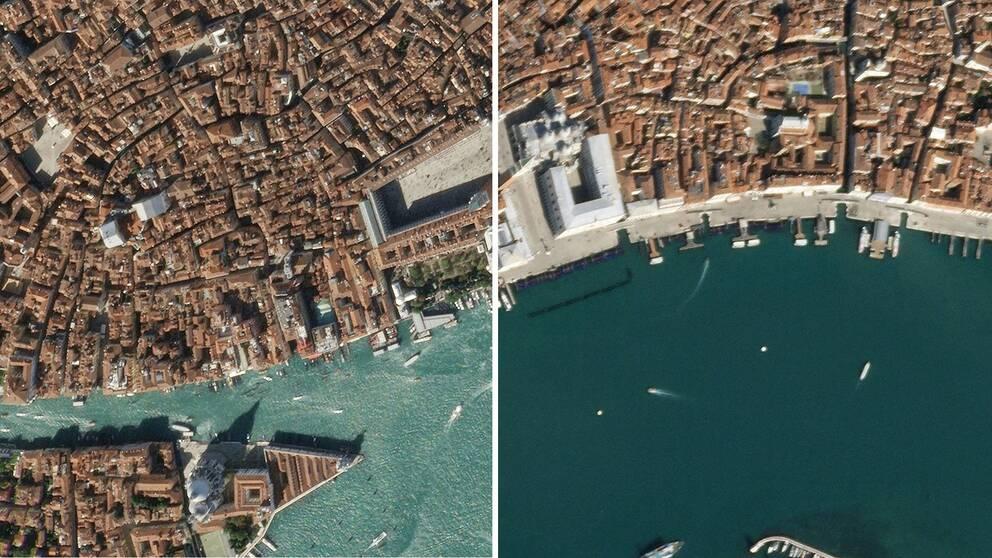 Venedig före och efter coronautbrottet
