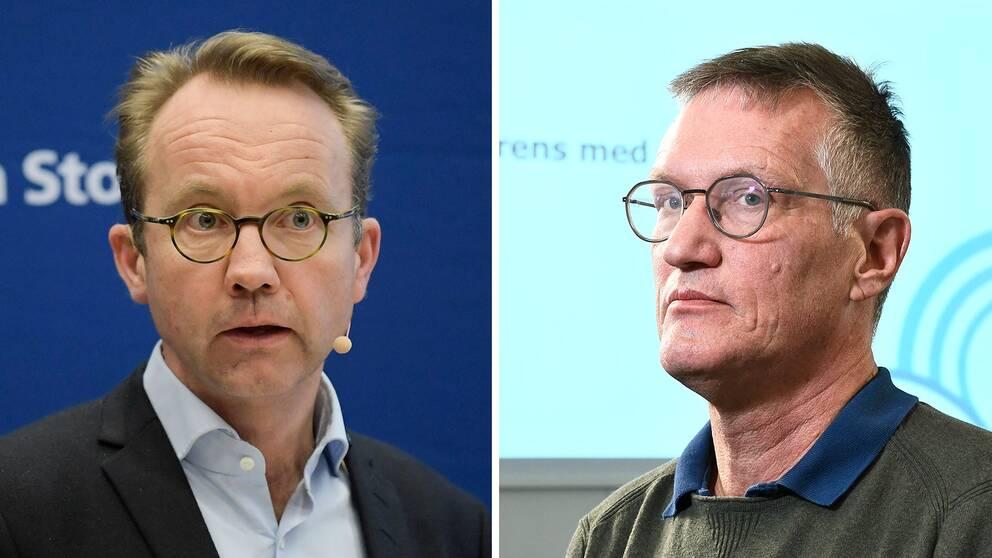 Björn Eriksson hälso- och sjukvårdsdirektör och statsepidemiolog Anders Tegnell.