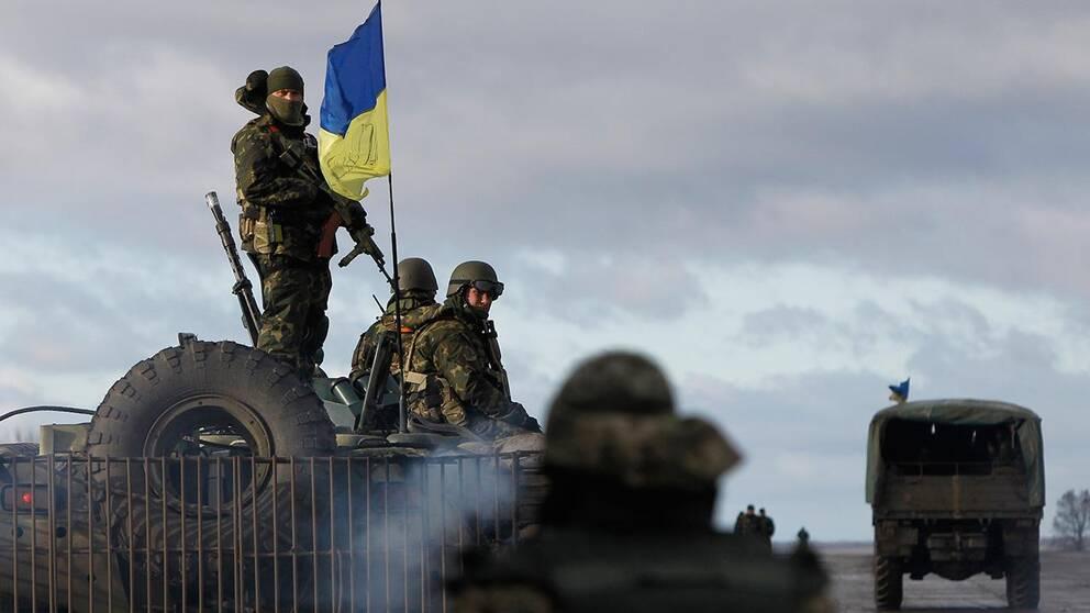 Ukrainska styrkor nära Donetsk