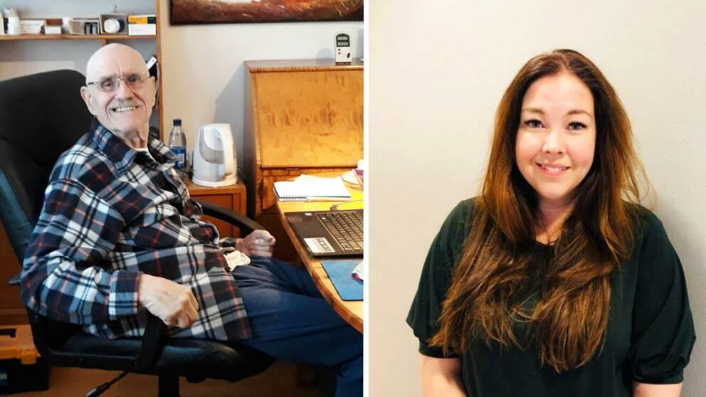 Splitbild. Vänster bildhalva: Foto på Bo Tapper som sitter ned vid ett skrivbord. Höger bildhalva: Porträttfoto på Charlotte Lind.