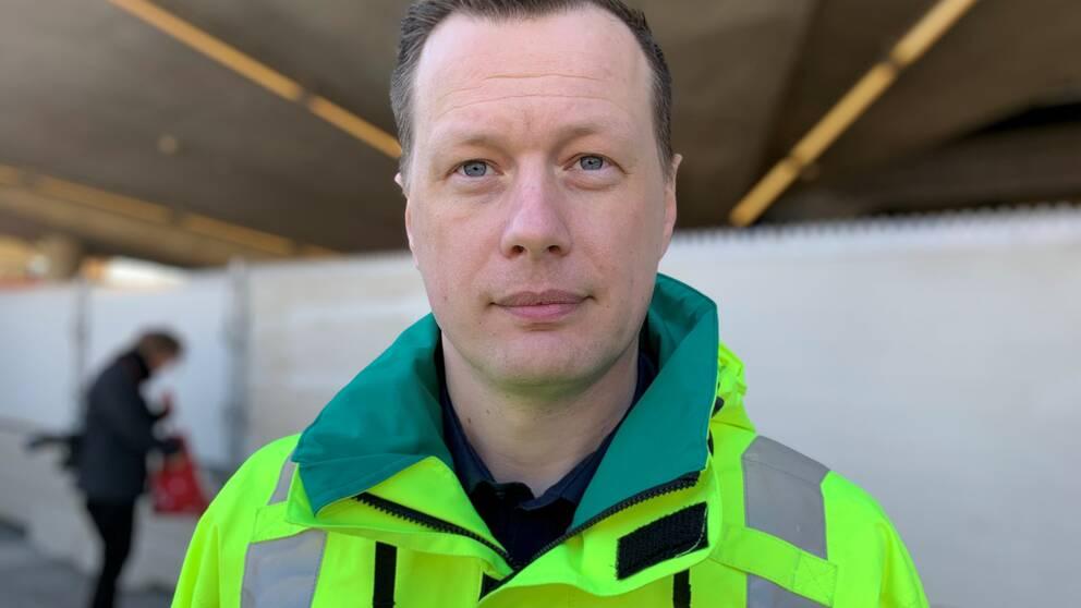 En bild på Carl Vigre, regional beredskapsöverläkare.