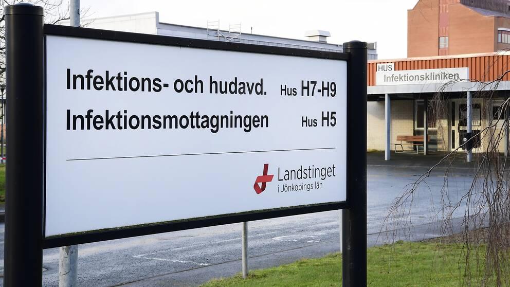Infektionsmottagningen på Länssjukhuset Ryhov i Jönköping.