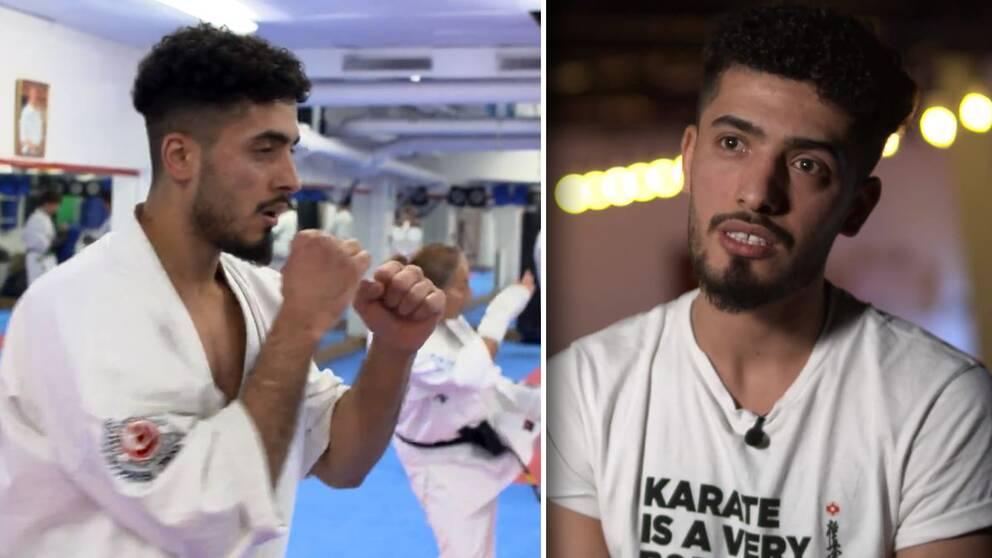 Karatestjärnan Ali Hayder flydde Irak på grund av förbjuden kärlek.