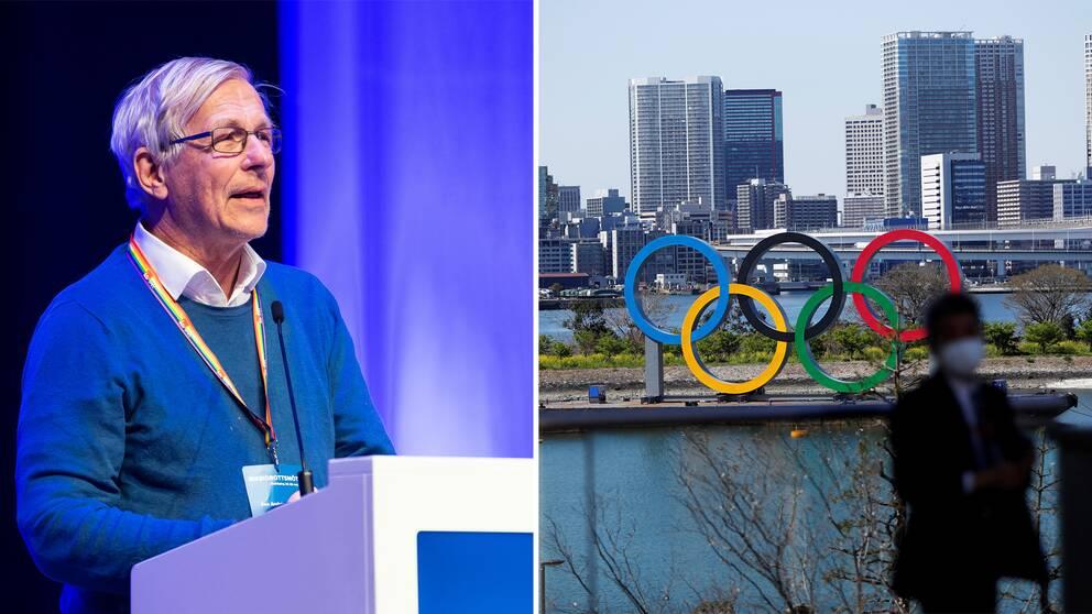 Åke Andrén-Sandberg och Tokyos OS-ringar.
