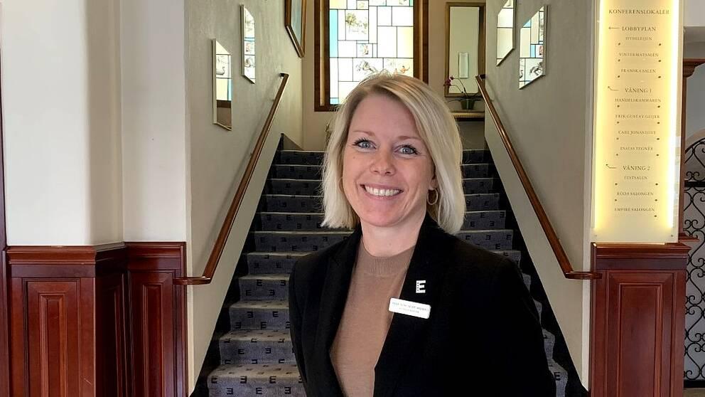 Anna Björkenstam Wedberg, hotelldirektör på Statshotellet i Karlstad.