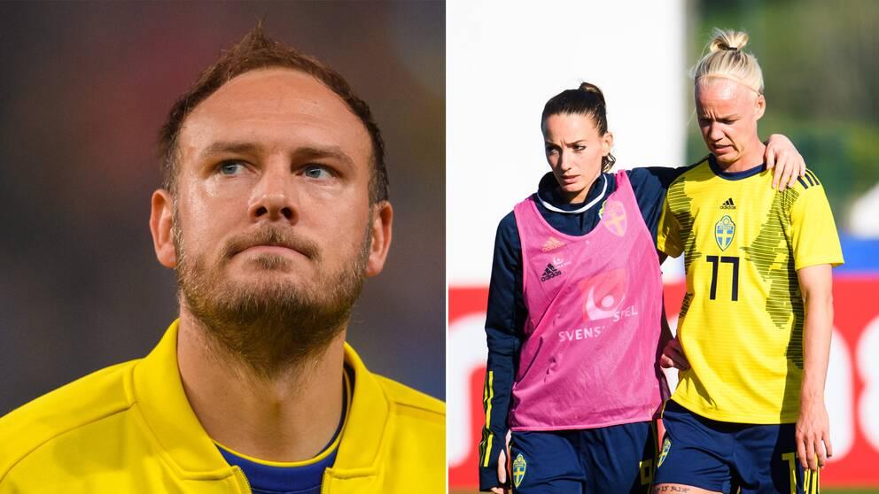 Andreas Granqvist, Kosovare Asllani och Caroline Seger.
