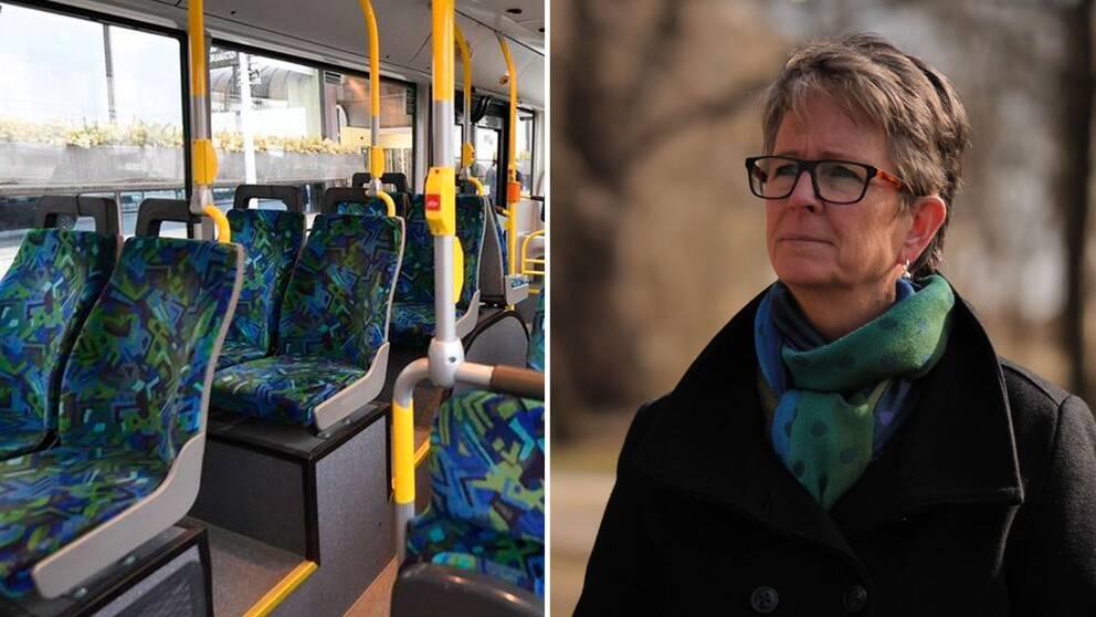 – Om det här fortsätter tre månader så saknas det tre miljarder, säger Helena Leufstadius, vd för Svensk Kollektivtrafik.