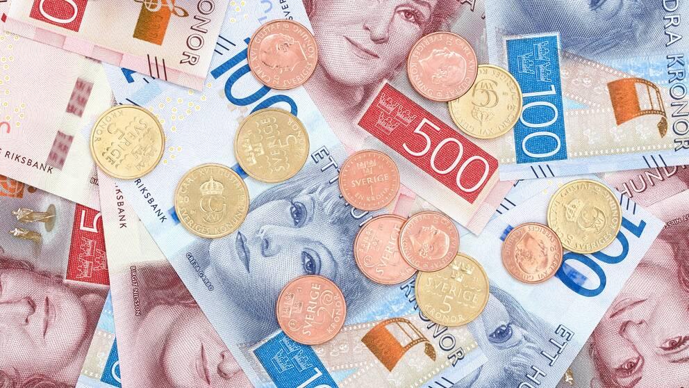 svenska sedlar och mynt sverige pengar kronor krona