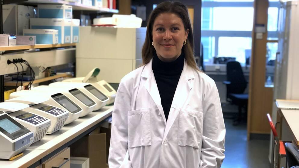 På bilden syns Sara Thuresson, som är doktorand i aerosolteknologi på LTH.