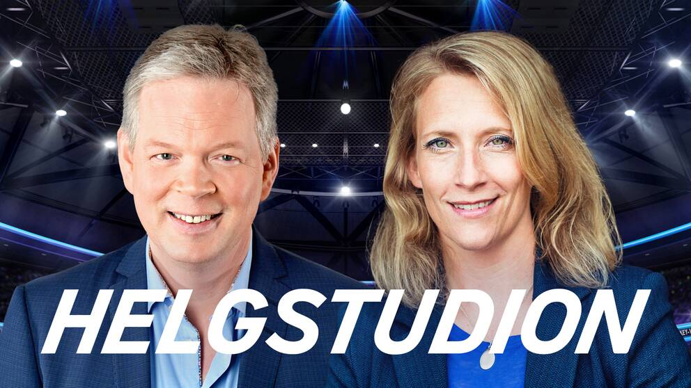 Mats Nyström och Maria Wallberg i Helgstudion.
