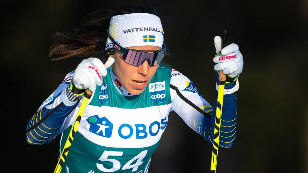 Charlotte Kalla avslutade säsongen i virtuellt lopp.