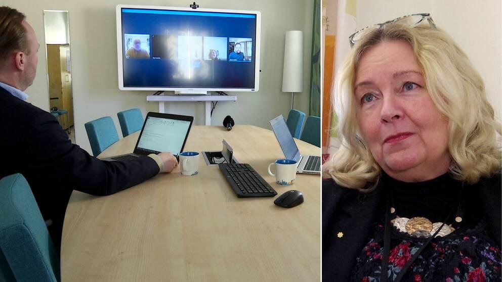 Värmlands regionfullmäktiges ordförande Jane Larsson (C) om att det ännu inte finns teknisk lösning för digitalt fullmäktigesammanträde.