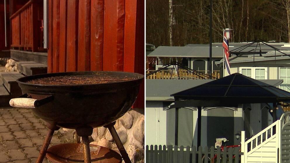 På Torsby camping står husvagnar och stugor tomma och öde.