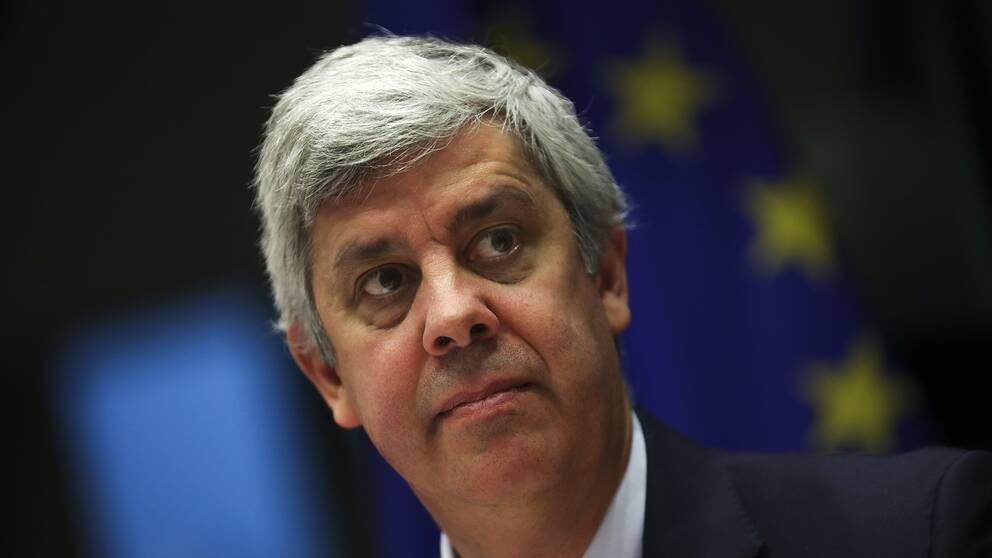 Eurofinansministrarnas mötesordförande Mario Centeno har ett tufft möte framför sig.