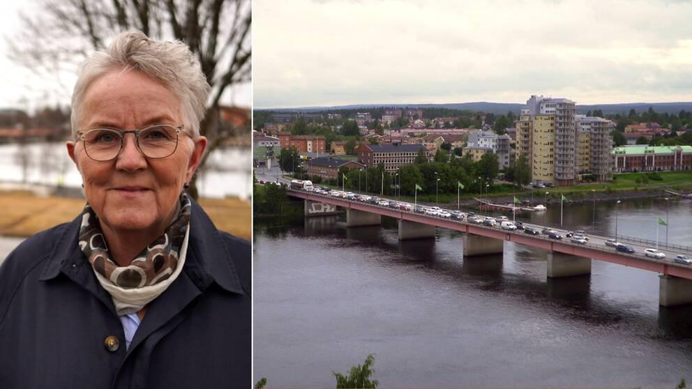 En vy över Tegsbron i Umeå