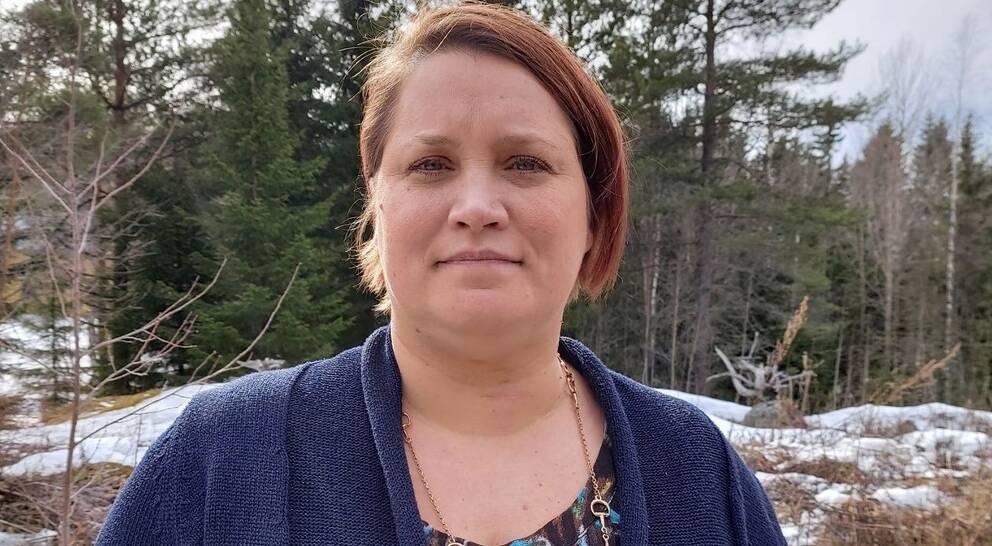 Linda Näreaho på Kvinnojouren i Kramfors.