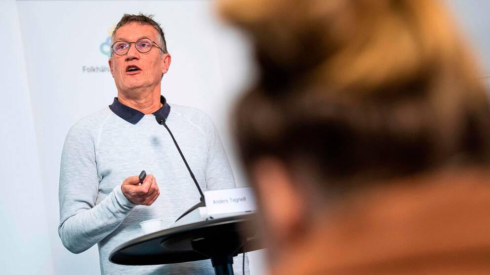 Anders Tegnell på FHM, som får sig en känga på DN Debatt