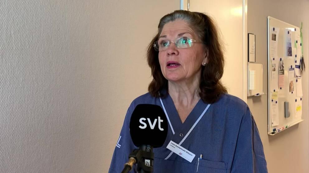 Lena Sunnermalm, chefläkare på Södertälje sjukhus