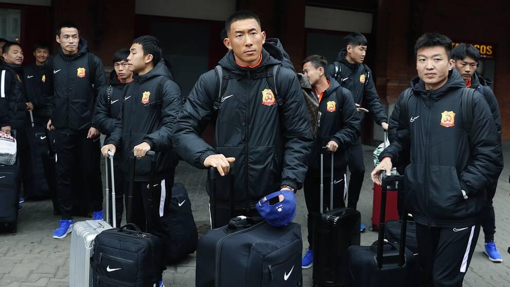 Spelarna i Wuhans fotbollslag har fått återvända till hemstaden. Arkivbild.