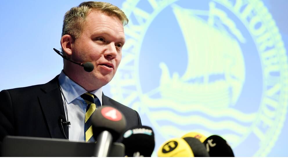 Anders Larsson, ordförande Svenska ishockeyförbundet.