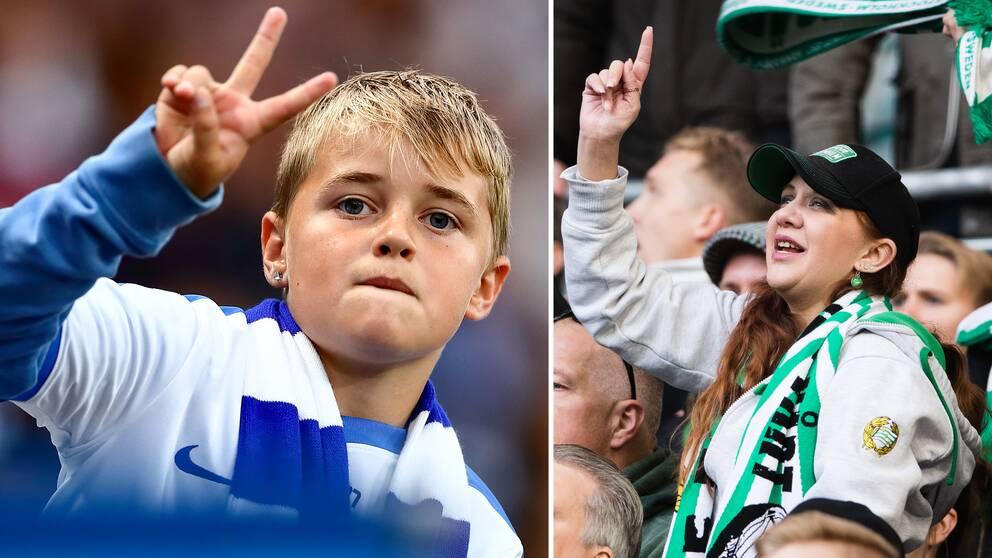 Fotbollsfans i Norrköping och Hammarby.