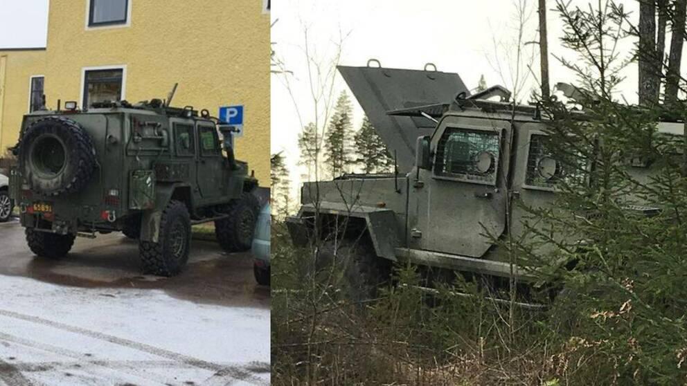 Stulna militärfordon Enköping