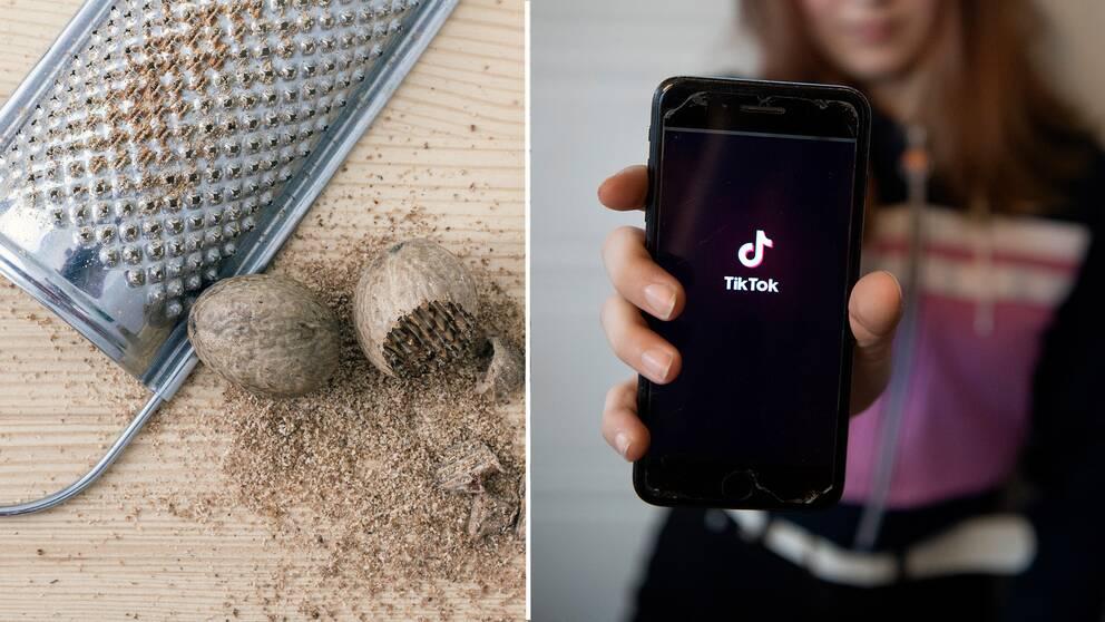 """Under hashtaggen """"nutmeg challenge"""" som sprids på sociala medier, har tonåringar börjat äta muskotnöt i berusningssyfte."""