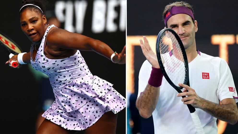 Serena Williams och Roger Federer.