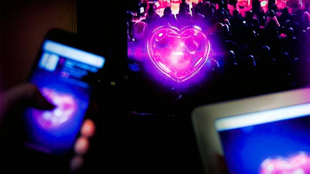 Melodifestivalens app. Grafik: SVT