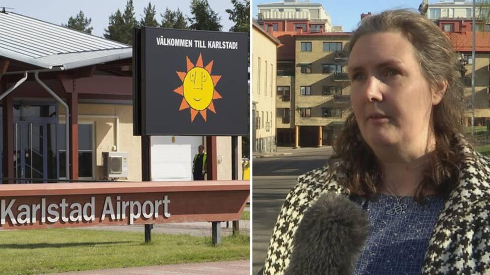 Miljöpartiet vill lägga ner Karlstad Airport, men det råder stor oenighet i den styrande blågröna koalitionen.