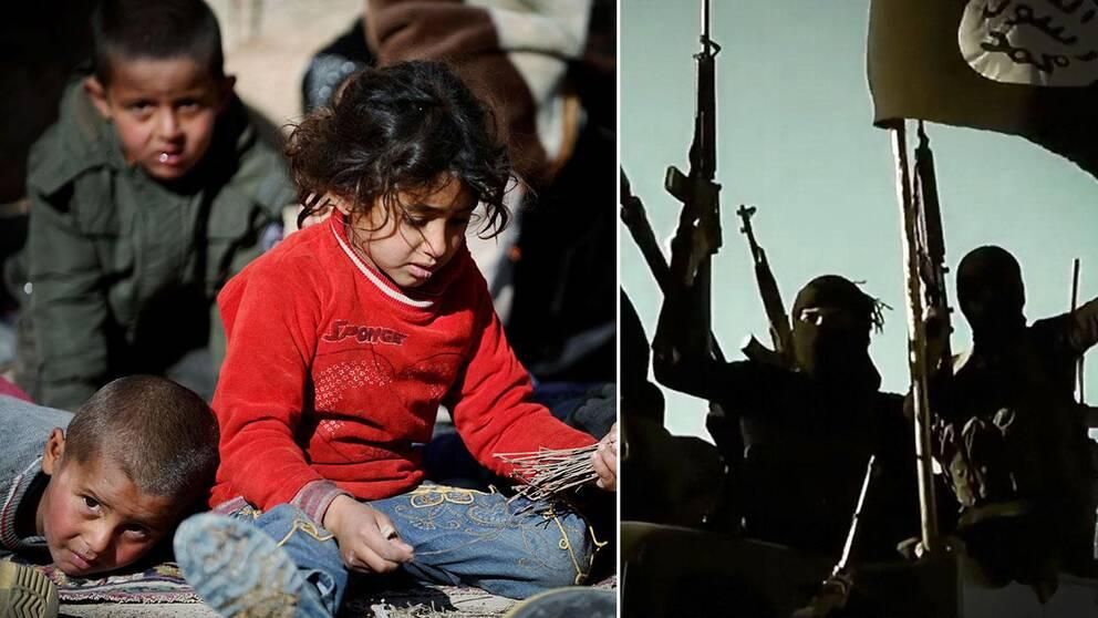 Irakiska barn på flykt undan IS. Nu kommer fasansfulla rapporter om terrorgruppens övergrepp mot barn.