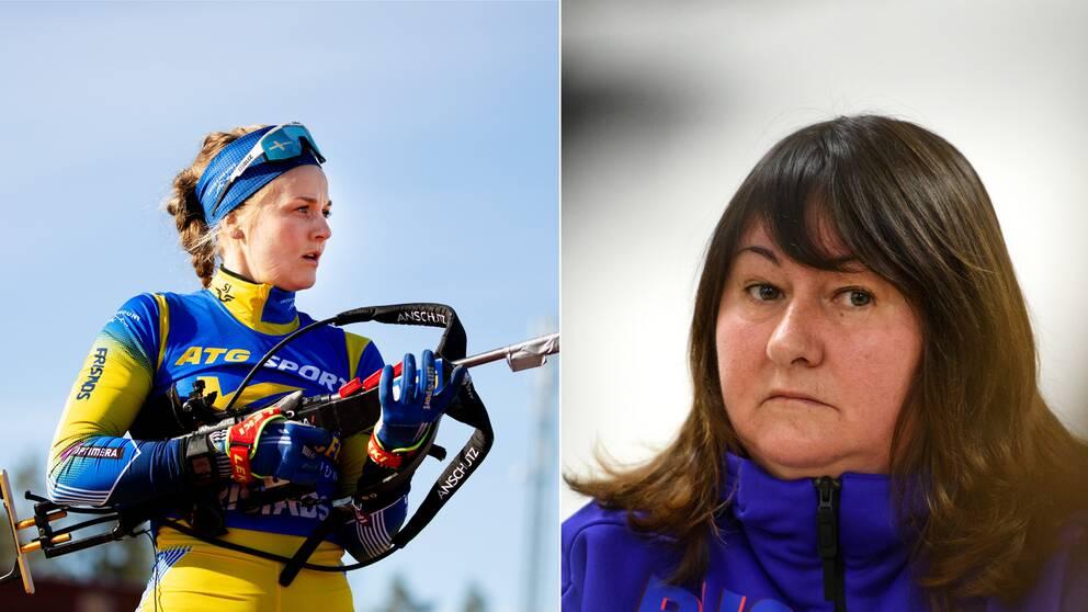 Stina Nilsson och Jelena Välbe.