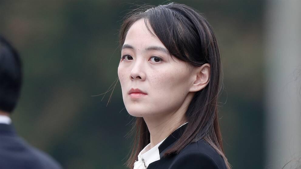 Bild på Kim Yo-Jung som ses som en möjlig efterträder till sin storebror, Kim Yong-Un.