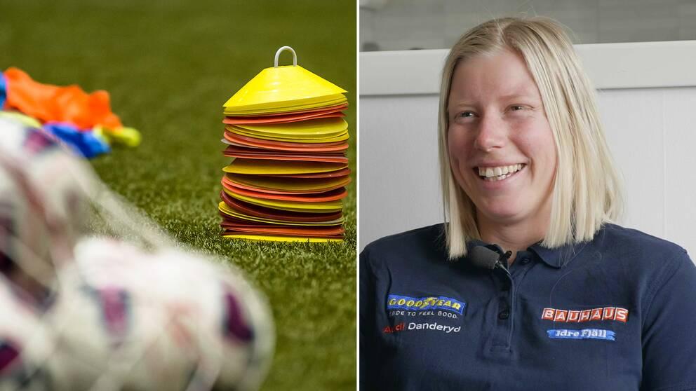 Sandra Näslund hoppade in som idrottslärare.