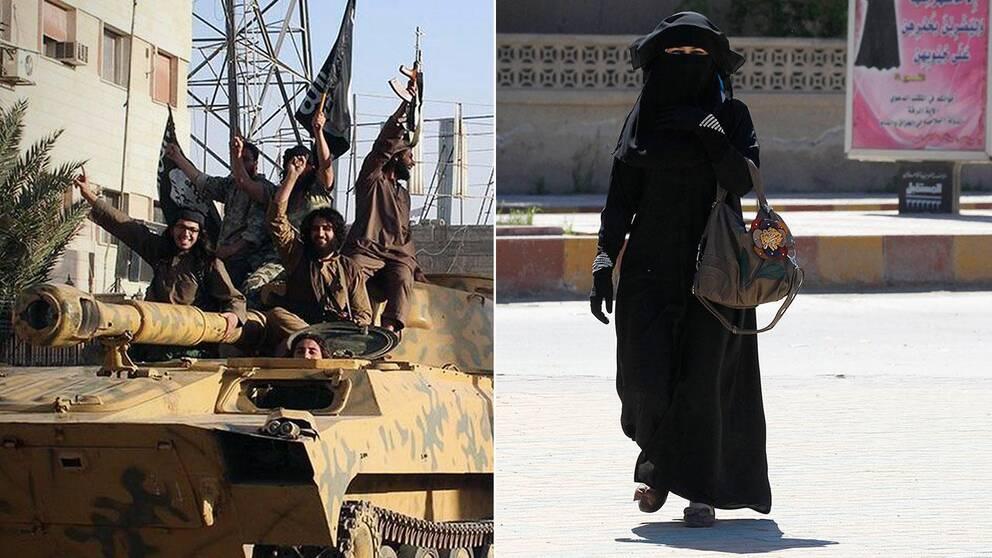 Irakisk kvinna i Raqqa.