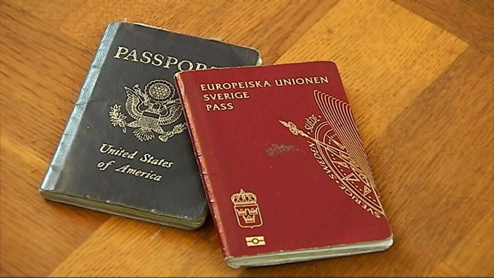 Amerikanskt pass och svenskt pass