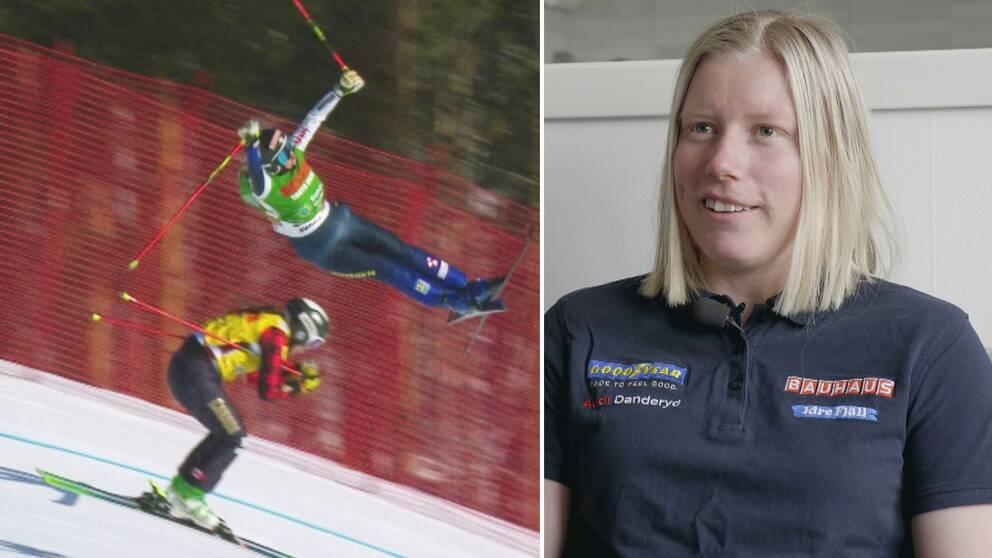Sandra Näslund kraschade ordentligt i Ryssland.