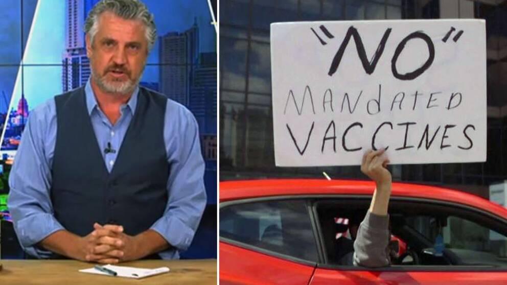 TV-producenten och vaccinationsmotståndaren Del Bigtree kallas ibland för antivaccin-kändis i USA.