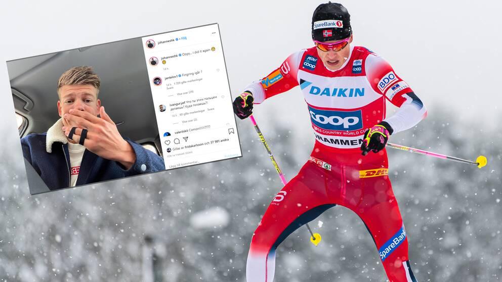 Johannes Hösflot Kläbo har åter skadat fingret.