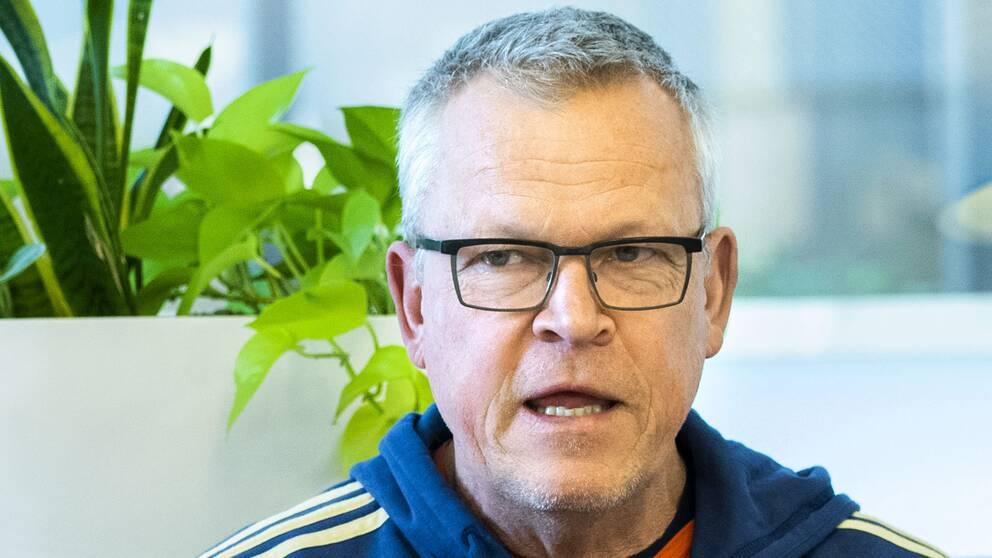 Fotbollslandslagets förbundskapten Janne Andersson i TT-intervju.