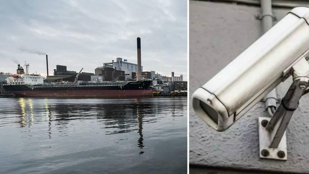 hamn och kamerabevakning