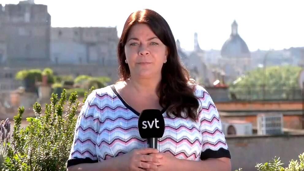 SVT:s utrikesreporter i Rom, Jennifer Wegerup