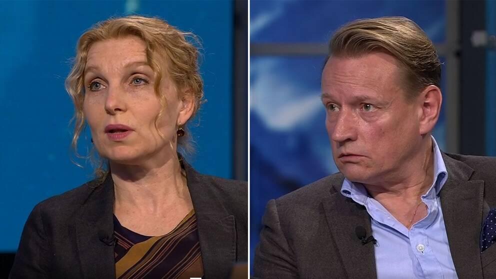 Anna Mia Ekström, professor i global infektionsepidemiologi och Matti Sällberg, professor och vaccinforskare