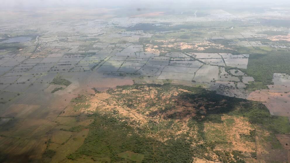 Översvämningar i Somalia i november 2019. Både översvämningar och extrem hetta väntas bli vanligare i regionen i takt med att klimatkrisen fortsätter.