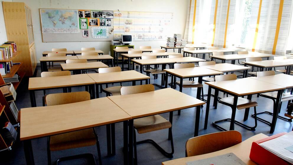 Som mest har mer än hälften av eleverna varit frånvarande under coronaviruspandemin.