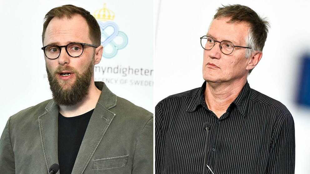 Henrik Lysell, enhetschef, Socialstyrelsen och Anders Tegnell, statsepidemiolog, Folkhälsomyndigheten