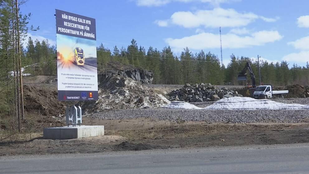 Byggarbetsplats för Kalix Resecentrum.